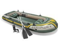 Comparateur de prix Kit bateau gonflable Intex Seahawk 4 avec rames et gonfleur Vert et Jaune