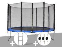 Comparateur de prix Kit trampoline Jardideco Cronos Ø 3,66 m Bleu + Echelle + Kit d'ancrage