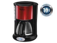 Comparer les prix du Cafetière programmable Moulinex FG362D10 inox rouge