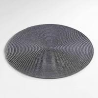 Set de Table Rond et Coloré - Anthracite - 35 cm